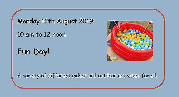 The Brooks fun day text and ball pool