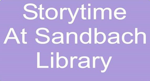 Under Fives Storytime - Sandbach Library