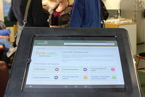 Live Well site shown on tablet