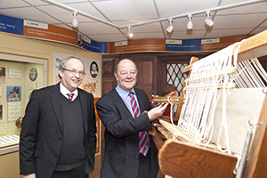 Councillor David Brown explores some of the exhibits at the museum with Ian Doughty, chairman of the board of trustees and collections manager at Congleton Museum