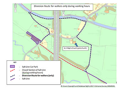 Salt Lane Diversion Route Map Click for full size image