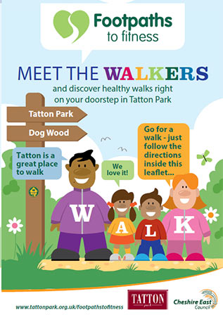 Cover of the Footpaths to fitness Tatton Park leaflet