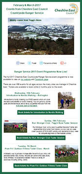 Ranger Service newsletter subscription