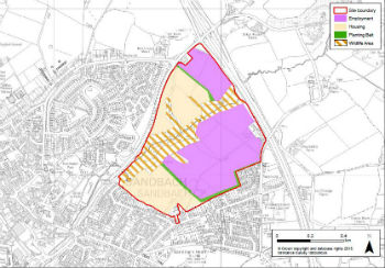 Access a larger version of Figure 15.64 Land adjacent to Junction 17 of M6 - South East of Congleton Road site (PDF, 945KB) (Opens in a new window)