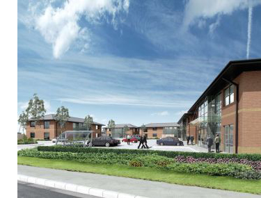 Artists impression of Parkgate Business Park