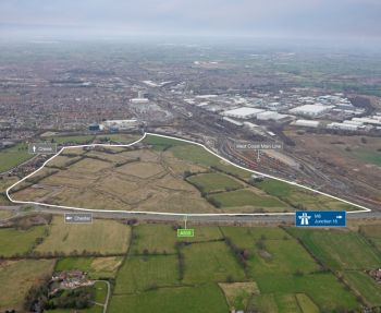crewe commercial park-aerial