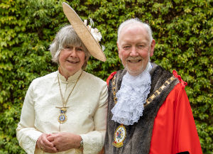 Mayor Barry Burkhill with his wife Mayoress Sue Burkhill