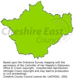 A map of Cheshire's boundaries 1974-1998