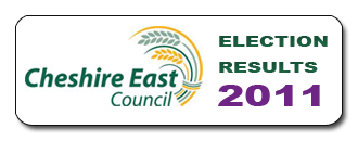Results home page of the 2011 Cheshire East Council elections