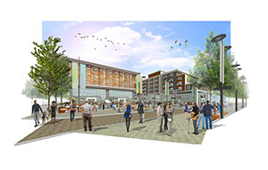 Artist's impression of what the Royal Arcade in Crewe could look like