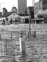 image of a flooded town