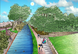 Visualisation of Macclesfield Canal footpath improvements