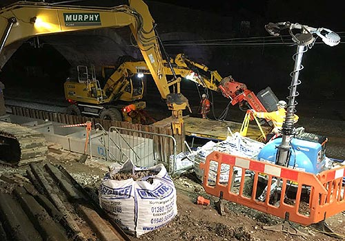 Night work on Sydney Road Bridge in September 2018