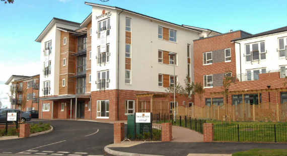 Beechmere Extra Care Village prior to the devastating fire