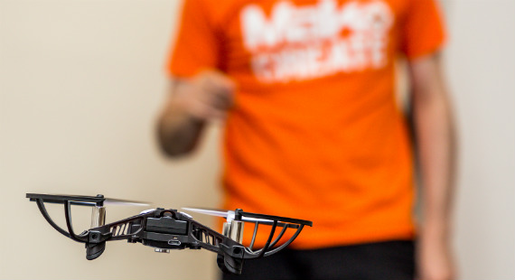A drone used in a previous MakoCreate activity
