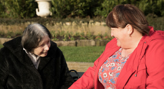 Elaine with Shared Lives carer Ruth