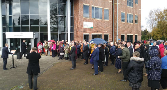 11/11/2019 - Council staff and members hold two-minutes' silence