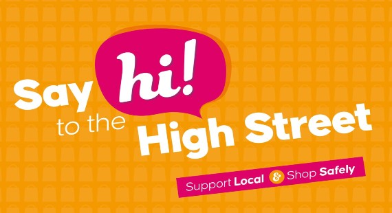 Say hi to the high street logo - support local and shop safely