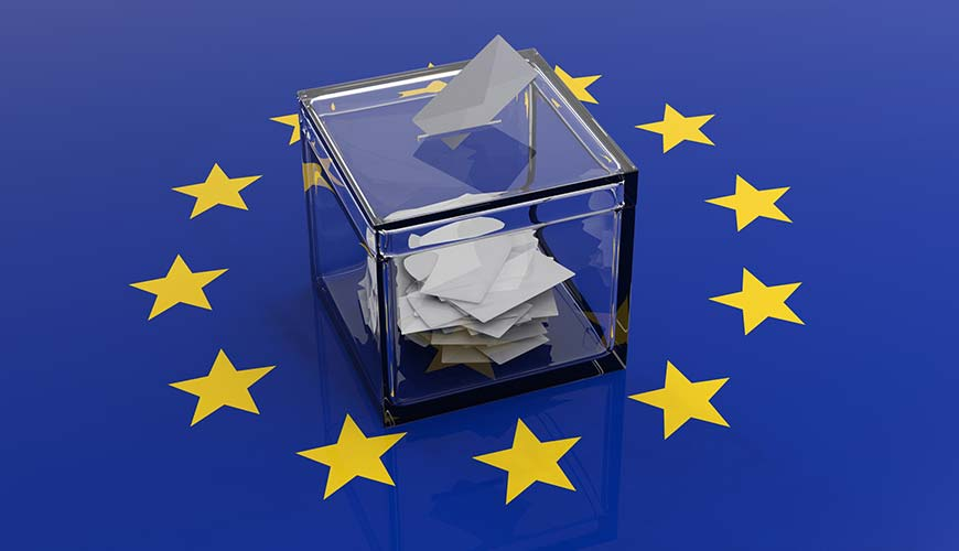 European election ballot box
