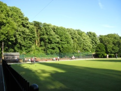 bowling at bollington recreation ground